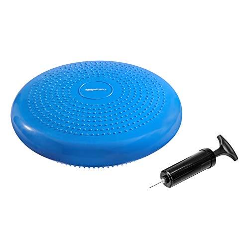 Amazon Basics - balance disc, cuscino per migliorare la stabilità, blu