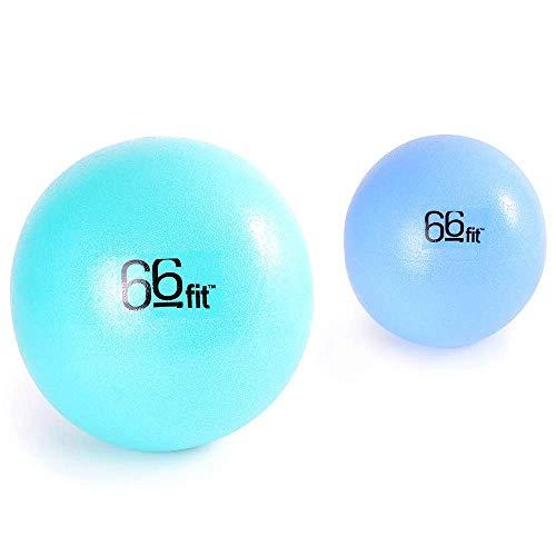 66FIT - Pelota de Pilates (2 Unidades, 20 y 25 cm), Color Azul y Turqu