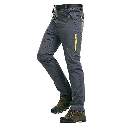 WALK-LEADER pour Homme Outdoor Escalade randonnée Séchage Rapide Pantalon Convertible pour Homme - Gris - XX-Large