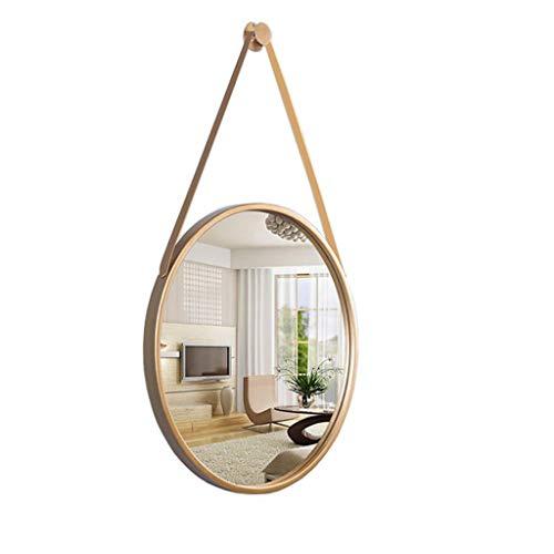 WMPD LT Espejo de cortesía nórdico, Colgante de Pared, decoración, Espejo de baño, Espejo de baño Moderno y Sencillo, Maquillaje de baño, Espejo Redondo Grande,70 * 70cm