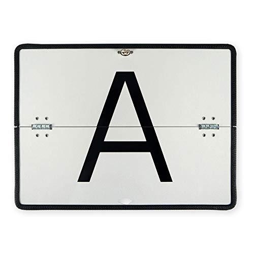 A-Tafel A-Schild für Abfalltransport Aluminium horizontal klappbar mit Kantenschutz 400x300 mm Warntafel Abfalltafel Abfallschild LKW