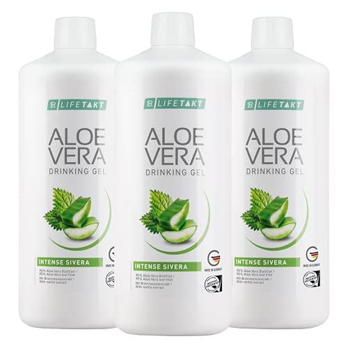LR LIFETAKT Aloe Vera Drinking Gel Intense Sivera Nahrungsergänzungsmittel (3x 1000 ml)