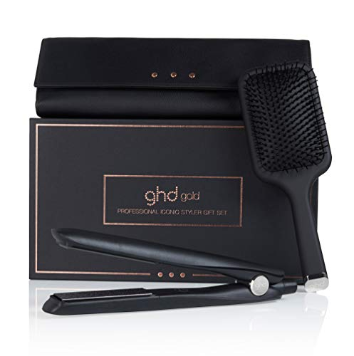 ghd gold gift set, styler gold con spazzola Paddle e...