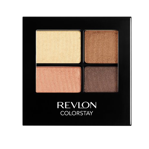 REVLON Colorstay 16 Hour Eye Shadow Quad, Brazen, 0.16 Ounce
