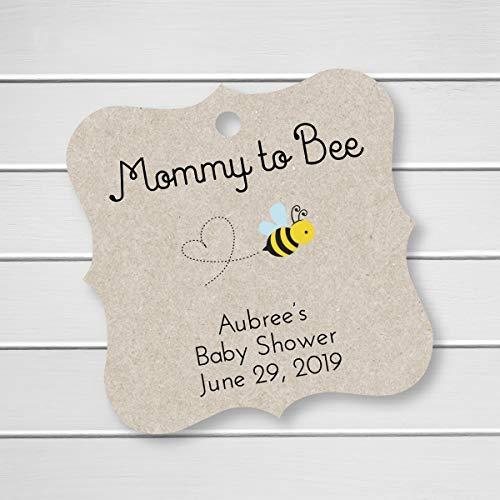 Mommy to Bee Shower Honey Jar Kraft Favor Tags (FS-289-KR)