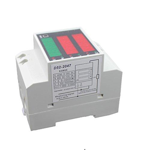 MagiDeal Ac80-300v Digital DIN-Schiene Stromspannung Leistungsmesser Amperemeter Voltmeters