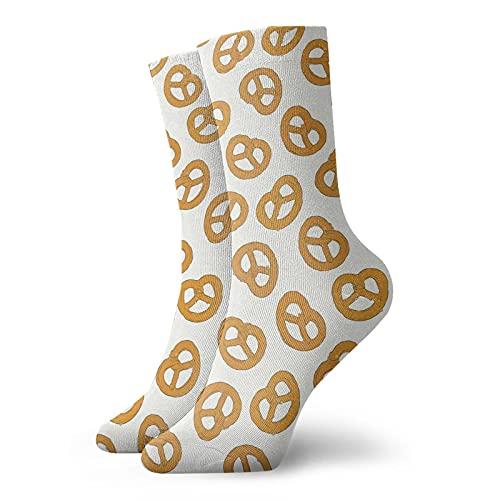 Pretzels - Calcetines de tobillo para hombre, mujer, calcetines de compresión atléticos