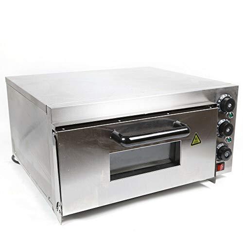 220V / 2KW Elektrische Pizza Maker Gewerblicher elektrischer Backofen Single Deck Edelstahl Backgeräte Pizzaofen