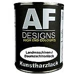 Alex Flittner Designs 1 Liter Kunstharzlack für Volvo GRAU Maschinen LKW NFZ Lack Baumaschinen
