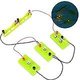 Circuito paralelo serie DIY, mejor enseñanza de física con 2 pilas AA que enriquecen la vida de ocio de los niños, kit de exploración de juguete, para niños(Circuit series parallel equipment)