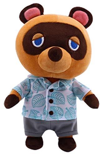 Tom Nook Plüschtier, 28 cm--Animal Crossing Plüsch Gefüllte Puppe Mit Kleidung ,Stofftier Waschbär Plüsch Tier Tierspielzeug Cartoon Figur Angefüllte Spielzeug Weiches Kinder Geschenk