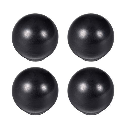 uxcell 4Pcs Thermoset Ball Knob M5 Female Threaded Machine Handle 16mm Diameter Smooth Rim Black
