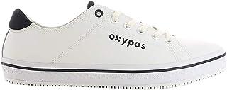 """Oxypas - Scarpa professionale in pelle""""Paola"""", con lacci e suola antiscivolo Oxygrip (SRC) e ESD antistatica (EU 38, color..."""