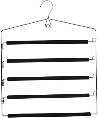 Zeller 17135 Mehrfach-Hosenbügel Metall/Eva, ca. 37 x 44,5 cm