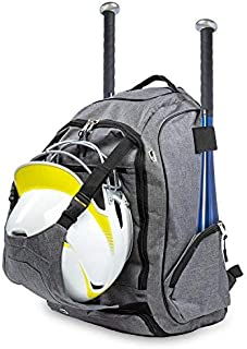 BODY'S CHOICE Baseball Gear Bag ? Equipment Backpack Fits 2 Bats Vented Shoes Compartment Helmet Holder Gloves and Cleats ? Phone Pocket ? Fence Hook ? Great for Kids Youth and Adults [並行輸入品]