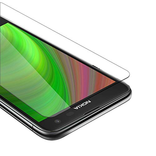 Cadorabo Pellicola Protettiva compatibile con Nokia Lumia 625 in ELEVATA TRASPARENZA - Vetro di protezione del display (Tempered) con durezza 9H con compatibilità 3D touch