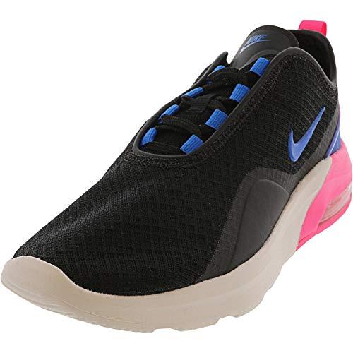 Nike Women's Air Max Motion 2 Running Shoes, 7, Black/Photo Blue-Hyper Pink