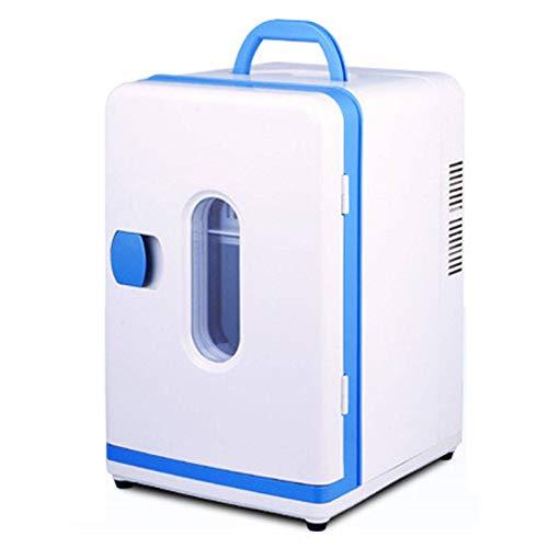Mini Nevera, 12L Interiores/Exteriores Frigorífico Refrigeración y Calefacción Portátil Pequeño Congelador Adecuado para Coche Dormitorios Familia Oficina-Blanco