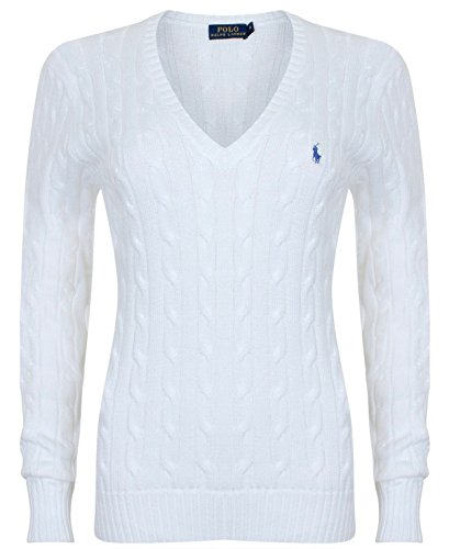 Polo Ralph Lauren Cable Knit V-Neck Cotton Pullover Kimberly S Weiss