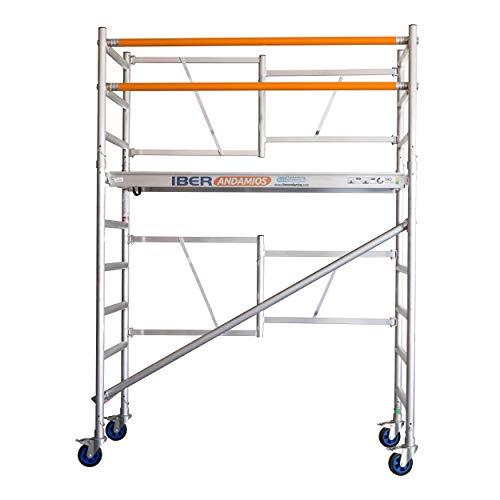Andamio plegable aluminio profesional IBERANDAMIOS de dos cuerpos con altura de trabajo 3,85 mts