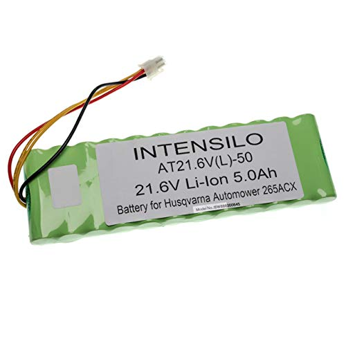 INTENSILO Akku passend für Husqvarna Automower 265, 265 ACX (5000mAh, 21.65V, Li-Ion)
