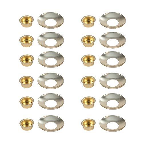 BODA Creative Kerzeneinsatz aus Metall mit passendem Tropfenfänger für Wachs, Durchmesser 20 mm, für Tafelkerzen, 12er-Set