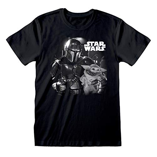 Star Wars: The Mandalorian Mando and The Child Photo Camiseta para Hombre | mercancía Oficial