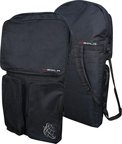 SOLA Expedition Bodyboard Bag Bolsa, Unisex, Negro, Size 113 cm x 61 cm x 9 cm