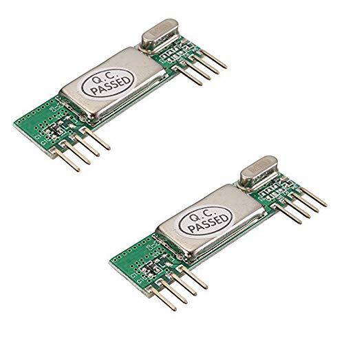 iHaospace 2 Pcs RXB6 433Mhz Superheterodyne Wireless Receiver Module for Arduino/ARM/AVR