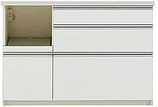 パモウナ 食器棚WL パールホワイト 幅120×高さ85×奥行45 日本製 WLL-S1200R下台