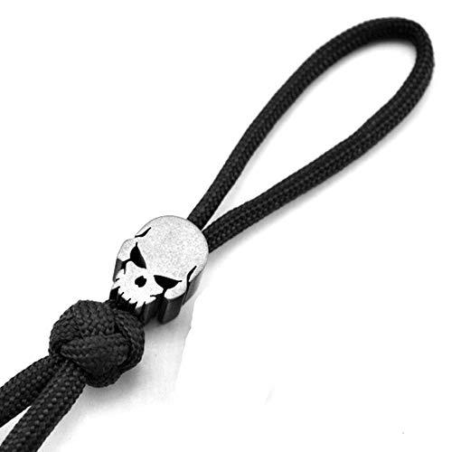 Punisher Schädelform Messer Perle Titan Lanyard Paracord Perlen für Messer Reißverschluss Pull 550 Paracord EDC Lanyard Perlen Anhänge