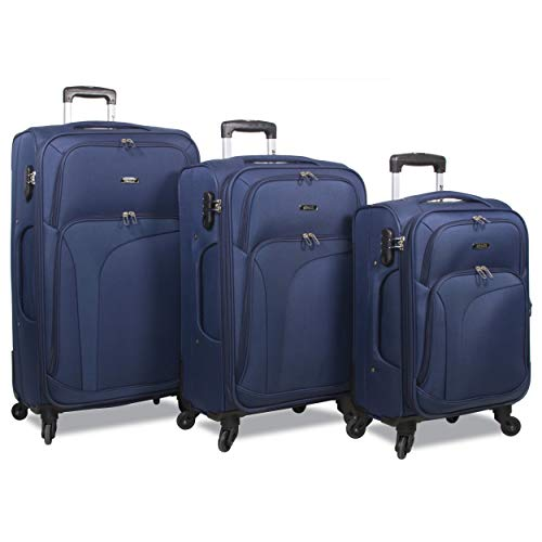 Rolite Rover 3-Piece Spinner Expandable Luggage Set, Navy