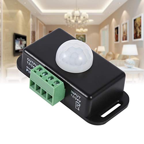 Surebuy Interruptor de Sensor de Movimiento, luz Suave y Estable Sin Parpadeo Interruptor de luz de Sensor de Movimiento Duradero y de Larga duración para Control Lámparas de luz LED y Tira de LED