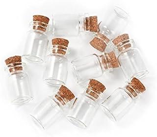 PandaHall 10本/セット 40x22mm ミニチュアボトル ガラス瓶 コルクビン ブレスレット?装飾品?インテリア?室内飾り物?小物入れ?オブジェ?置物 可愛い ビーズ アクセサリー パーツ ハンドメイド 手芸用品