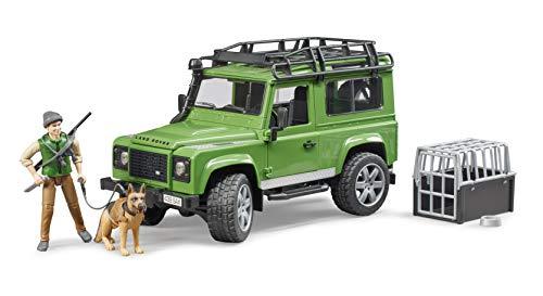 Bruder - 02587 - Modellino Land Rover Defender Station Wagon con guardia forestale e cane
