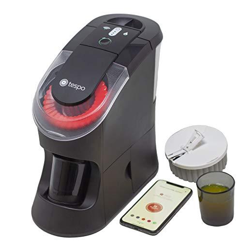 Tespo Connect Dispenser | Mixes Powder Vitamins into 2 Oz. Liquid Servings | Various 31 Serving Tespo Pods Insert Into Tray | Black Tespo Blender Cup Included