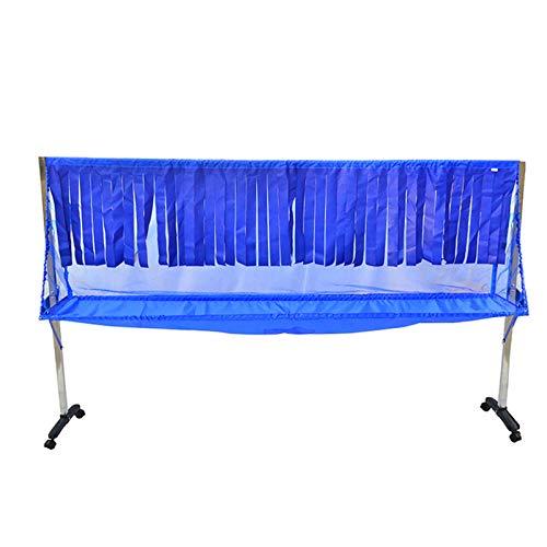 XJJUN Redes De Tenis De Mesa, Redes Móviles para Entrenamiento Y Redes De Reciclaje, Redes Multibola con Cinturones De Seguridad para Bloquear La Pelota (Color : Blue, Size : 230x45x135cm)