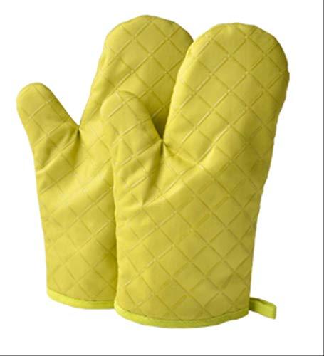 AHJUYTKJOIIO 1 paar isolerende handschoenen verdikte anti-verbranding oven magnetron bakhandschoenen hittebestendig hoge temperatuur pan handvat huishouden