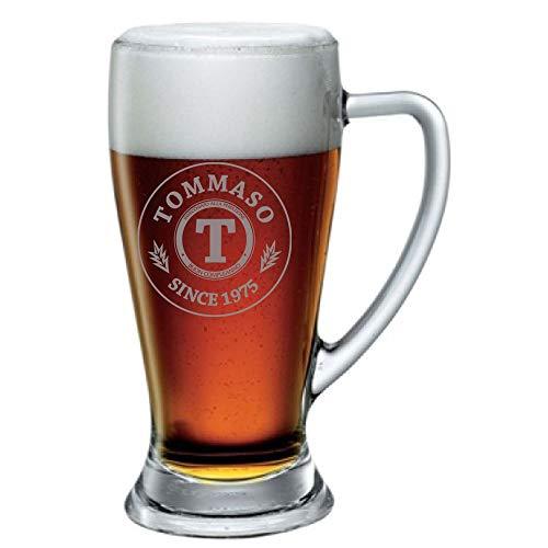 Boccale da Birra con Incisione Personalizzabile Compleanno - Since - personalizza con Nome e Anno - Bicchiere in Vetro 38 cl