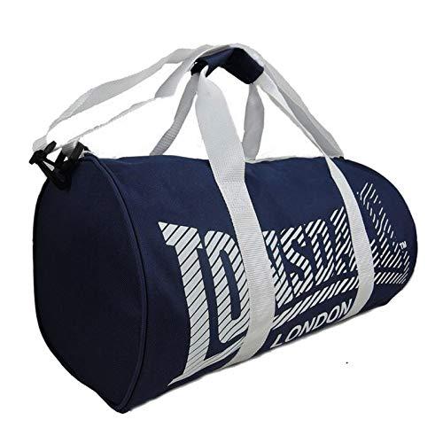 Lonsdale Multisport Sporttasche , Bleu Marine et Blanc