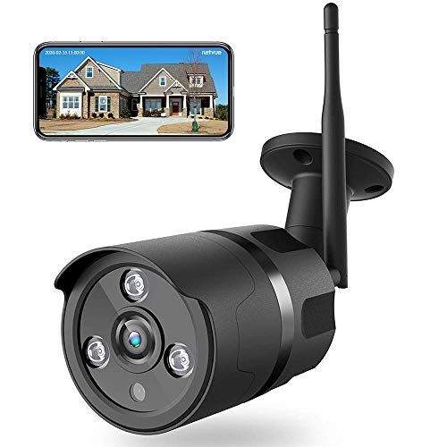 NETVUE Überwachungskamera Aussen, 1080P WLAN Kamera Outdoor IP66 wasserdicht Sicherheitskamera mit Nachtsicht, Zwei-Wege-Audio, Bewegungserkennung