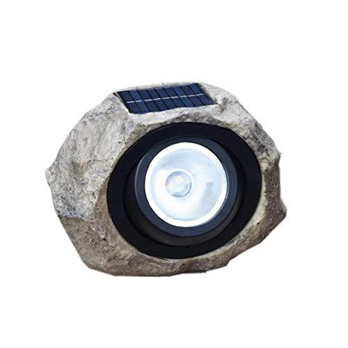 DierCosy Solar Piedra Solar de la lámpara LED de la Linterna de la Resina del césped de la Roca Luz Lámpara de Piedra a Prueba de Agua para el jardín, Patio, Patio Trasero, Pavimentación
