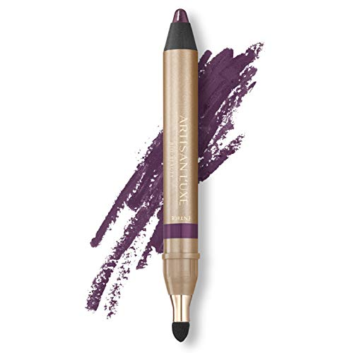 Artisan L'uxe Beauty Velvet Jumbo Eyeliner Pencil - Smokey Eyes in 3 Minutes - Water-Resistant, Smudge-Proof, Long-Lasting - Age-Defying Essential Oils - Entice (Shade: Violet)