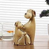 LBYLYH 3 unids/Set Creativas artesanías para Perros de cerámica Que adornan Adornos de Animales Encantadoras Figuras Familiares miniaturas Regalo Estatua Adornos