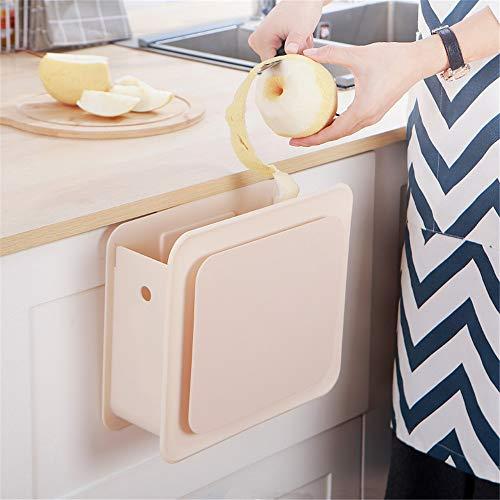 2-delige set voor de deur van de keukenkast, kan in een vuilnisbak worden opgehangen. S Wit