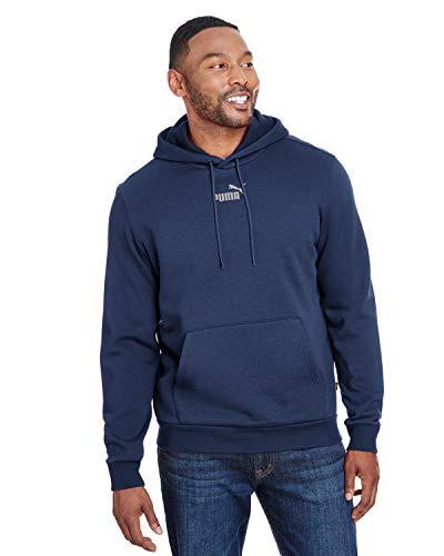 PUMA Men's Essential Hoody Fleece Big Logo, Peacoat, XXL