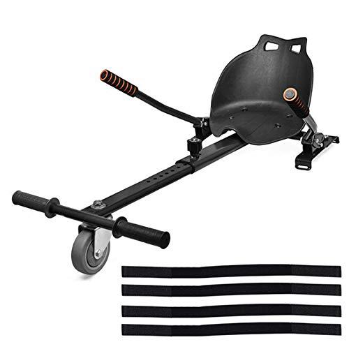 ApexOne Verstellbarer Hoverkart mit Sitz für 16,5 cm, 20,3 cm und 25,4 cm, selbstbalancierender Elektro-Scooter, Gokart-Befestigung, Schwarz, Schwarz