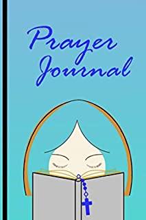 """Prayer Journal for Christian Women: Blank Prayer Book Lined notebook Worksheets with general prompts for favorite scripture 6"""" x 9"""" White paper Matte Cover"""