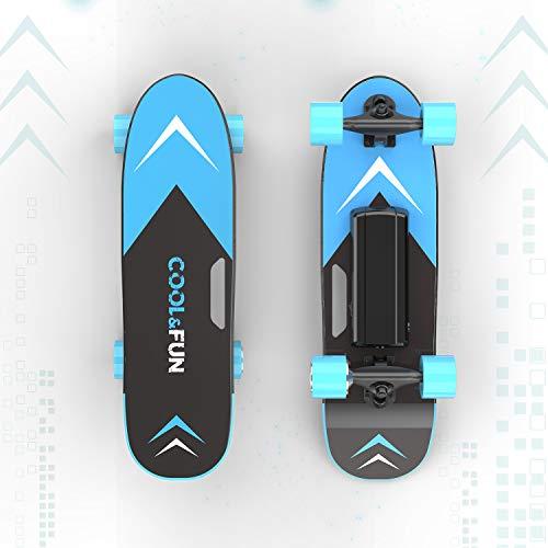 Elektrisches Skateboard mit ferngesteuertem Longboard für Kinder und Erwachsene, 150-W-Motor, Zwei Geschwindigkeitsmodi, tragbare E-Skateboard-Kick-Skateboard-Geschenke für Kinder