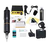 Tatuaje profesional Rotary Tattoo Pen kit máquina mini energía importada en botella tintas Set estudio tatuaje suministros